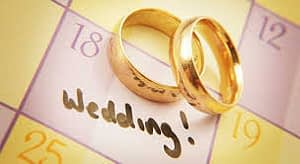 wedding calender and rings