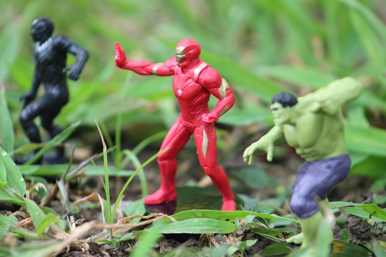hulk black panther iron man